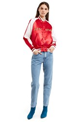 Mademe Pretty On The Inside Satin Jacket Red