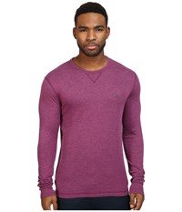 Original Penguin Long Sleeve Reversible Crew Amaranth Men's Long Sleeve Pullover Purple