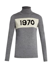 Bella Freud Roll Neck 1970 Wool Sweater Grey