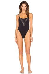 Blue Life Suede Oasis One Piece Black
