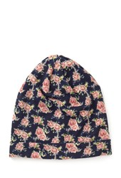 Forever 21 Slouchy Floral Print Beanie