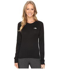 The North Face Long Sleeve Lfc Reaxion Amp Tee Tnf Black High Rise Grey Women's Long Sleeve Pullover