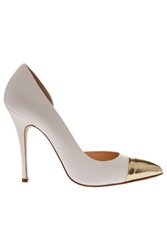 Duccio Venturi Metallic Toe Heel Court Shoe