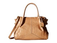 Frye Sophie Satchel Natural Veg Calf Leather Satchel Handbags Taupe