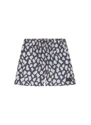 Acne Studios 'Perry' Leopard Print Swim Shorts Blue