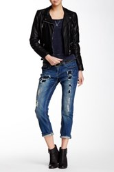 Lee Cooper Emma Rolled Cuff Slim Boyfriend Jean Blue