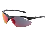 Tifosi Optics Tyrant 2.0 Mirrored Interchangeable Gloss Black Clarion Red Ac Red Clear Lens Athletic Performance Sport Sunglasses