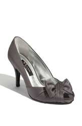 Women's Nina 'Forbes' Peep Toe Pump Steel
