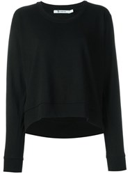 T By Alexander Wang Scoop Neck Sweatshirt Black