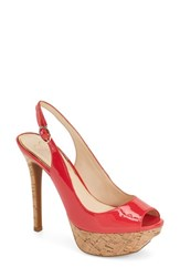 Women's Jessica Simpson Platform Slingback Peep Toe Pump Pacifico Patent Leather