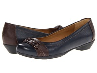 Softspots Posie Navy Chocolate Velvet Sheep Nappa Women's Slip On Shoes