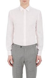 Brooklyn Tailors Pique Weave Button Front Shirt Pink