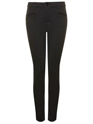 Nydj Legging With Zip Detail In Black Charcoal