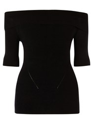 Oasis Bardot Knit Top Black