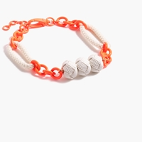 J.Crew Neon Knotted Rope Necklace Neon Persimmon