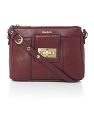 Ollie And Nic Bella Burgundy Small Crossbody