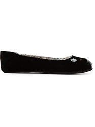 Marc By Marc Jacobs Cat Face Ballerinas Black