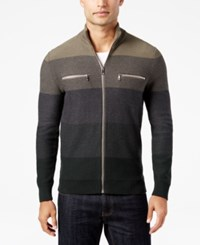 Inc International Concepts Men's Copperfield Striped Zip Front Sweater Only At Macy's Tank