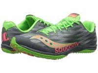 Saucony Kilkenny Xc5 Flat Grey Slime Pink Women's Running Shoes Gray