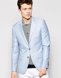 Reiss Pastel Blazer In Slim Fit Softblue