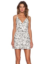 The Ldrs Deep V Floral Tank Dress Ivory