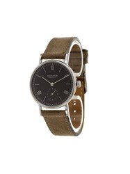 Nomos 'Ludwig' Analog Watch Brown