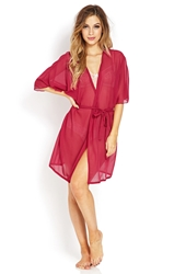 Forever 21 Swiss Dot Sleep Robe