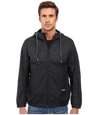 Converse Reflective Print Packable Windbreaker Black Men's Coat