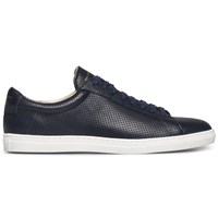 Zespa Navy Nappa Perforated Zsp4 Sneakers Blue