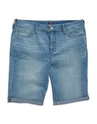Nydj Plus Slim Fit Shorts Manhattan Wash