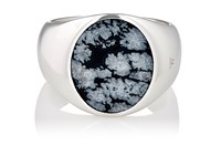 Tom Wood Women's Oval Signet Ring Silver