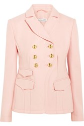 Altuzarra Seth Double Breasted Wool Blend Blazer Blush