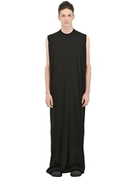 Rick Owens Drkshdw Sleeveless Cotton Jersey Tunic Black