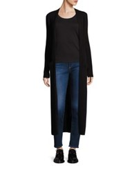Theory Torina Cashmere Long Wrap Cardigan Black