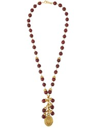 Chanel Vintage Grixpoix Beaded Necklace Brown