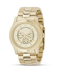 Michael Kors Oversized Chronograph Goldtone Watch 44 Mm