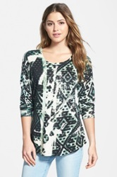 Nic Zoe 'Wandering' Scoop Neck Top Multi
