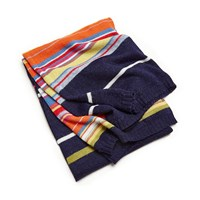 Jonathan Adler Multi Stripe Knit Throw