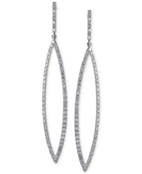 Effy Collection Effy Diamond Marquise Shaped Drop Earrings 1 3 8 Ct. T.W. In 14K White Gold