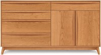 Copeland Furniture Catalina 4 Drawer On Left 1 Drawer Over 2 Door On Right Dresser