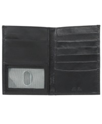 Tasso Elba Lamb Skin Passport Case Wallet Black