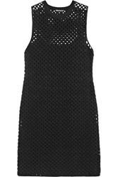 Theory Natialee Crocheted Cotton Blend Mini Dress