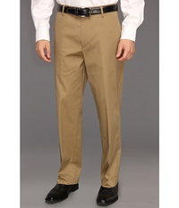 Dockers New Iron Free Khaki D3 Classic Fit Flat Front Dark Wheat Men's Casual Pants Brown