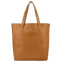 Collection Weekend By John Lewis Memphis Leather Stud Tote Bag Tan