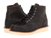 Red Wing Shoes 6 Moc Toe Charcoal Rough And Tough Men's Lace Up Boots Black