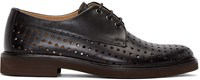 A.P.C. Black Perforated Hugo Derbys