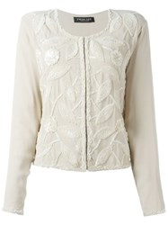 Twin Set Sequin Embellished Jacket Nude And Neutrals
