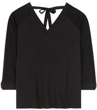 81 Hours Haim Silk And Cotton Blouse Black