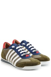 Dsquared2 New Runner Suede Sneakers Multicolor