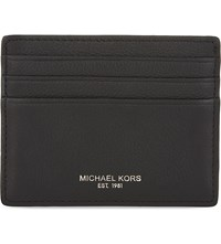 Michael Kors Bryant Grained Leather Card Holder Black